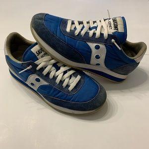 VTG Saucony Hornet Blue/White Shoes Size 8.5